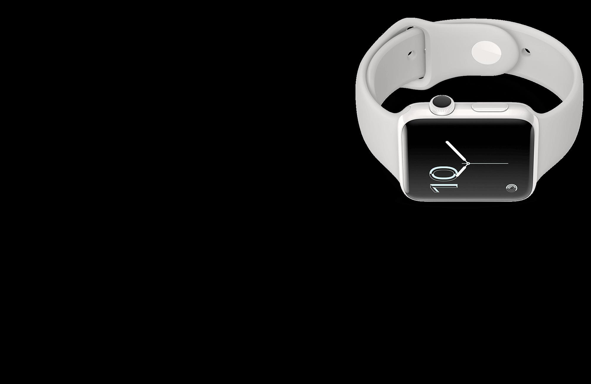 APPLE Watch Series 3 42mm ezüst okosóra fehér csuklópánttal